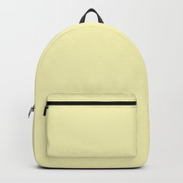 Hello Pastel Yellow - Solid Color Backpack