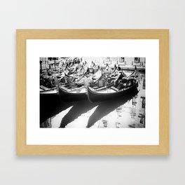 Gondole in Black&White Framed Art Print