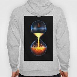 Old flame / 3D render of hourglass flowing liquid fire Hoody