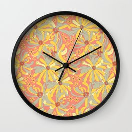 Hello Spring Blossoms Wall Clock
