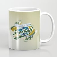 football Mugs featuring Football  by ArtAngelo