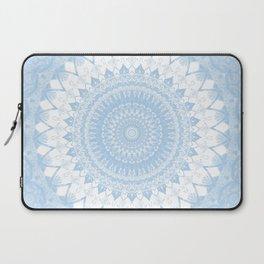 Baby Blue Boho Mandala Laptop Sleeve
