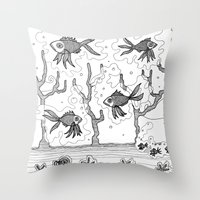 underwater Throw Pillows featuring Underwater by Condor