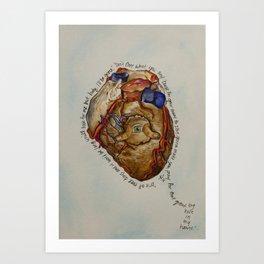 Hole in my Heart Art Print