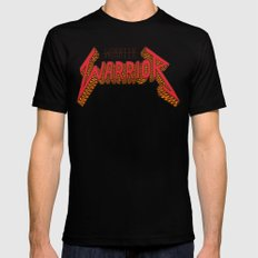 Warrior Not Worrier Mens Fitted Tee Black LARGE