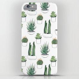 Watercolour Cacti & Succulents iPhone Case