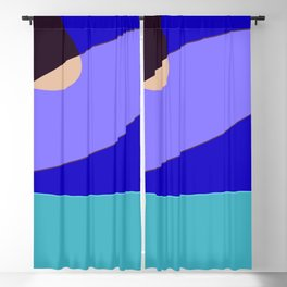 Minimal With Blue Blackout Curtain