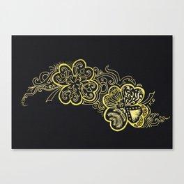 Four-leaf clover Canvas Print