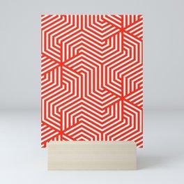 Red (RYB) - red - Minimal Vector Seamless Pattern Mini Art Print