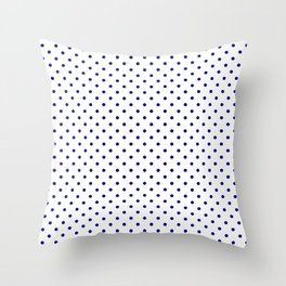 Dots (Navy Blue/White) Throw Pillow