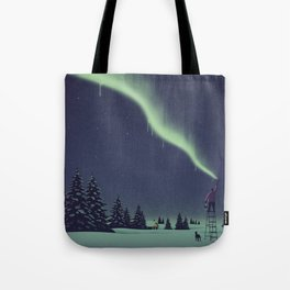 Winter Painting Tote Bag