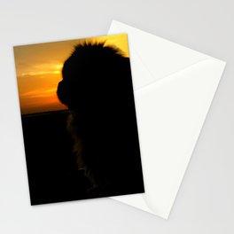 Lion dog sunset Stationery Cards