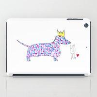 hot dog iPad Cases featuring Hot Dog by Ninotchka Beavers