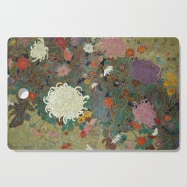flower【Japanese painting】 Cutting Board