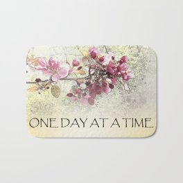 One Day at a Time Pink Blossoms Bath Mat