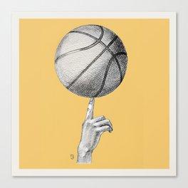 Basketball spin orange Canvas Print