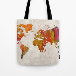 World Map 57 Tote Bag