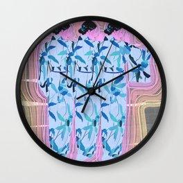 WOMAN IN KIMONO VIBES Wall Clock