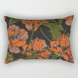 Autumnal flowering of poppies Rectangular Pillow