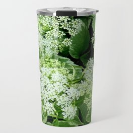 AWESOME DELICATE GREEN LACE FLOWERS Travel Mug