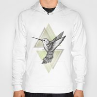 hummingbird Hoodies featuring Hummingbird by Barlena