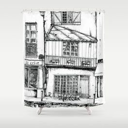 Rue Galande Shower Curtain