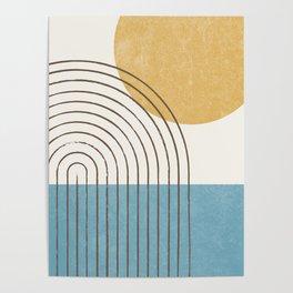 Sunny ocean Poster