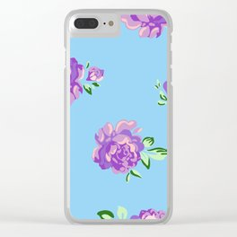 Blue Joys of Spring Clear iPhone Case