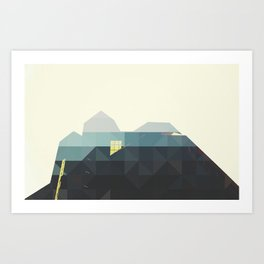 GEOMETRIC BUILDINGS Art Print