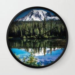 Mountain Lake Reflection 2017 Wall Clock