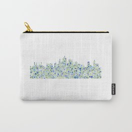 Kansas City Skyline Floral Watercolor Carry-All Pouch