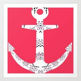 Beach buoys Art Print