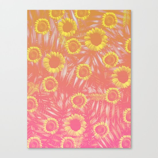 Sunflower Party #4 Canvas Print