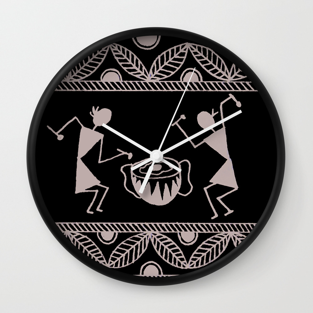 Warli Art Wall Clock By Designsbygulmohars Society6