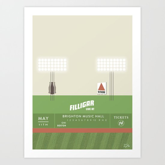 Filligar  with DOM - Brighton Music Hall - Fenway Poter Art Print