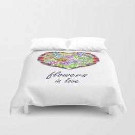 flowers in love . artlove . Duvet Cover