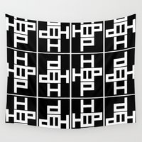 hip hop Wall Tapestries featuring HIP HOP by Erin Thomas