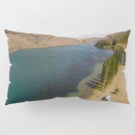 lonely camper on a lake near jacks bay new zealand Pillow Sham