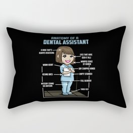 Anatomy Of A Dental Assistant Rectangular Pillow
