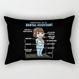 Anatomy Of A Dental Assistant Rectangular Pillow
