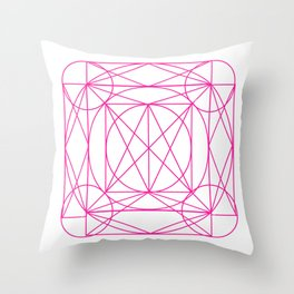 Stained Glass- Pink Throw Pillow
