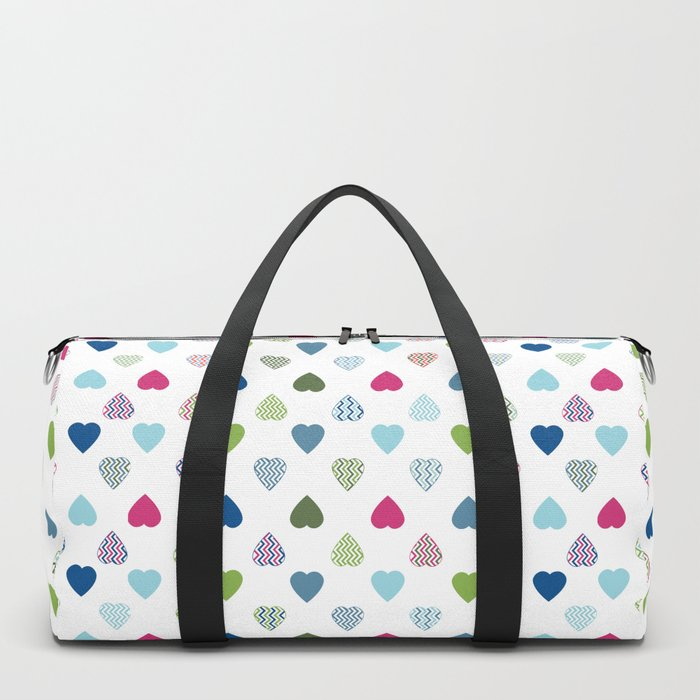 AFE Colorful Hearts Duffle Bag