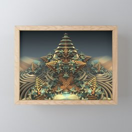 On Point - Fractal - Mandelbulb - Manafold Art Framed Mini Art Print
