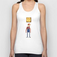 pixel Tank Tops featuring Pixel Plumber by Michael B. Myers Jr.