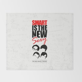 Lab No. 4 - Smart Is The New Sexy Inspirational Quotes Poster Throw Blanket
