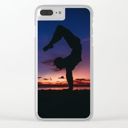Fine Art Photograph - Yoga Sky Clear iPhone Case