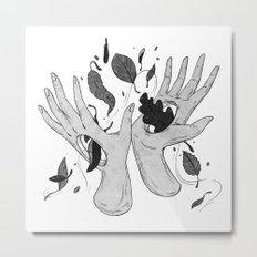 Autumn Hands Metal Print