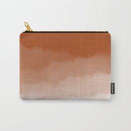 Burnt Orange Watercolor Ombre (burnt orange/white) Carry-All Pouch
