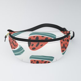 Watermelons Pink Metal Fanny Pack