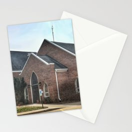 Christ Church Side Entrance in Moline, Illinois Stationery Cards